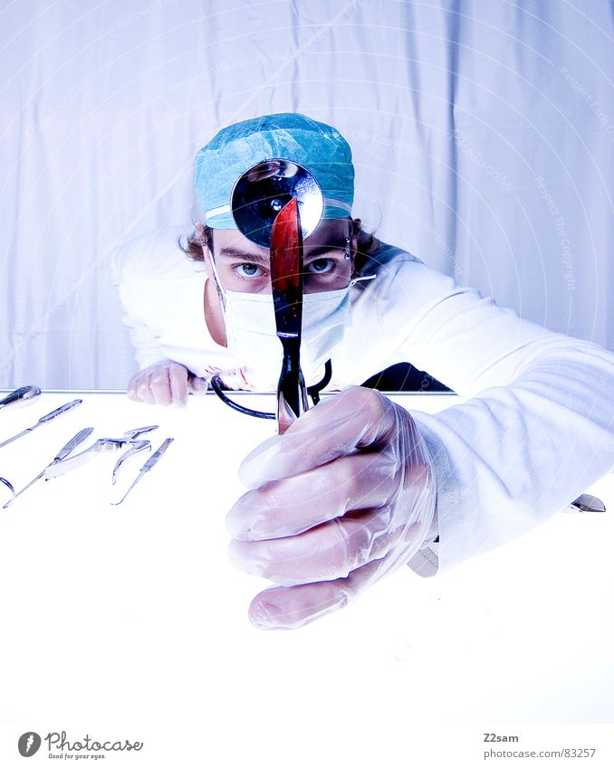 """doctor """"kuddl"""" - skalpell 4 Gesundheitswesen Arzt Spiegel Krankenhaus Werkzeug Blut Musikinstrument geschnitten Handschuhe Mundschutz Operation Chirurg"""