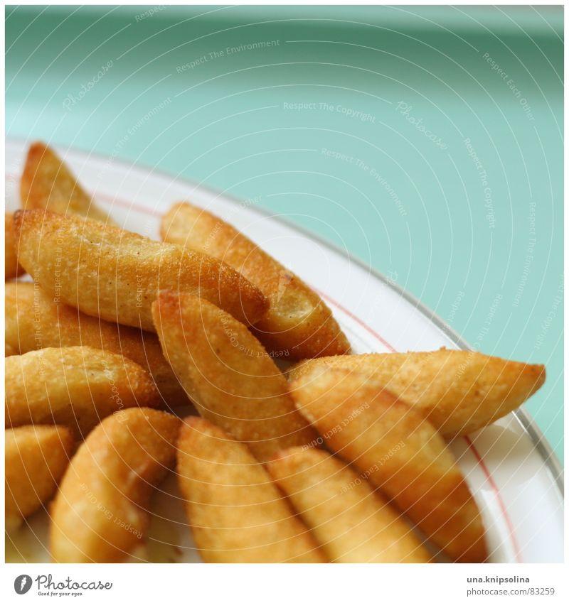 schupfnudelz Lebensmittel Ernährung Mittagessen Abendessen Teller Gastronomie blau gelb rot Schupfnudeln Speise Mahlzeit Mittagspause Speisesaal kochen & garen