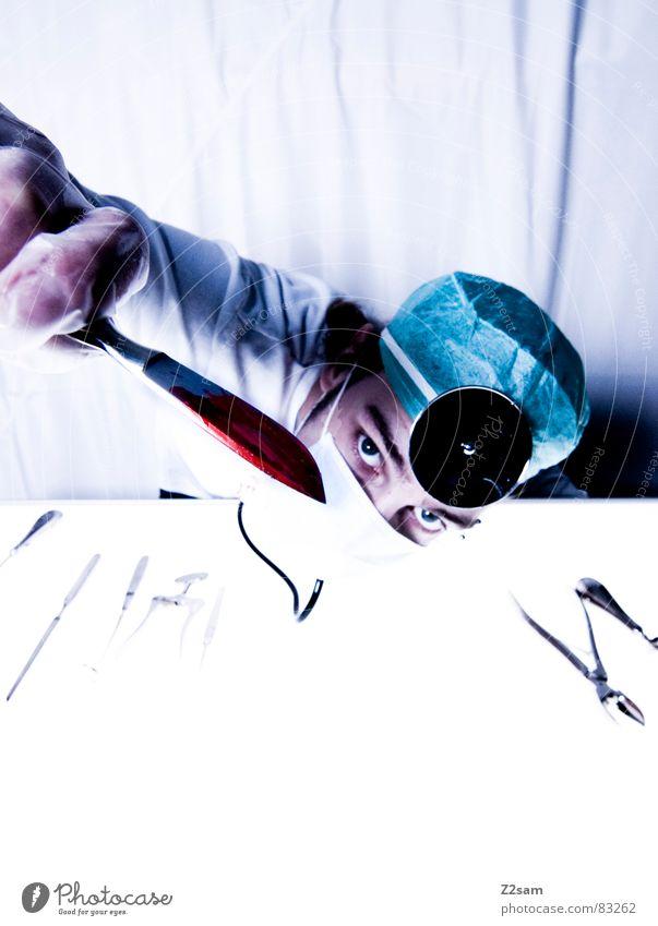 """doctor """"kuddl"""" - skalpell 6 Auge Aktion Gesundheitswesen Arzt Spiegel Krankenhaus Werkzeug gegen Blut Musikinstrument Unfall geschnitten Handschuhe Mundschutz"""