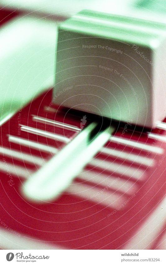 Slide Musikmischpult fade Produktion Makroaufnahme Nahaufnahme Elektrisches Gerät Technik & Technologie Ton Electribe
