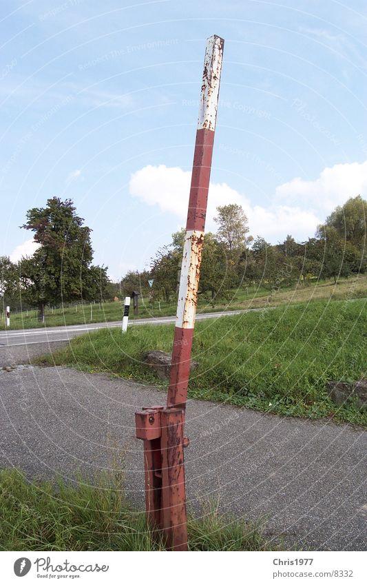 schranke Schranke Dorf Oxidation