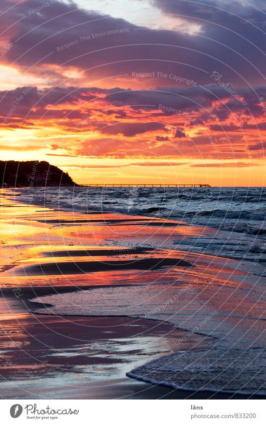 eine andere Welt Sonnenuntergang Meer Ostsee Himmel Wasser Horizont