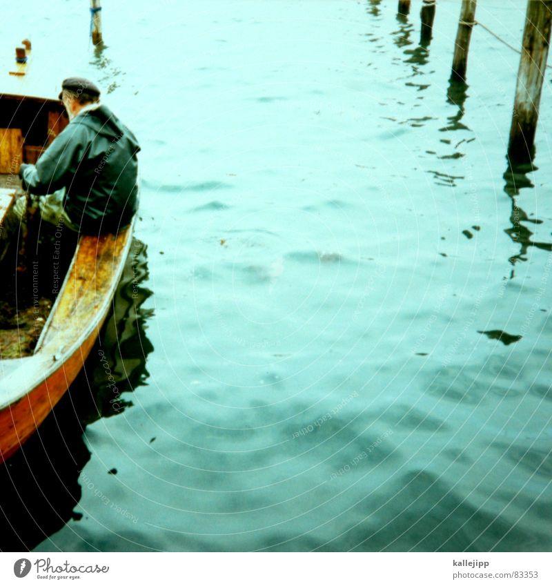 der blonde hans II Wasser Meer See Wasserfahrzeug Deutschland Arbeit & Erwerbstätigkeit Fisch Netz Hafen Säule Handwerk Strommast Fischereiwirtschaft Pfosten