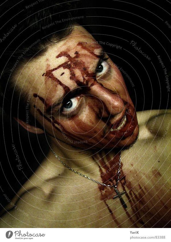 gegessen IV Gesicht Auge dunkel Tod Rücken Mund Brand gruselig Wut türkis böse Gesichtsausdruck Fressen Flamme Blut Fantasygeschichte