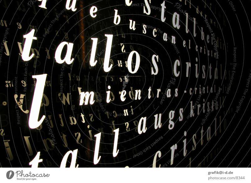 Wattens 01 Licht Kunst Buchstaben Österreich Zeile Ausstellung Messe Schriftzeichen Lampe Strukturen & Formen