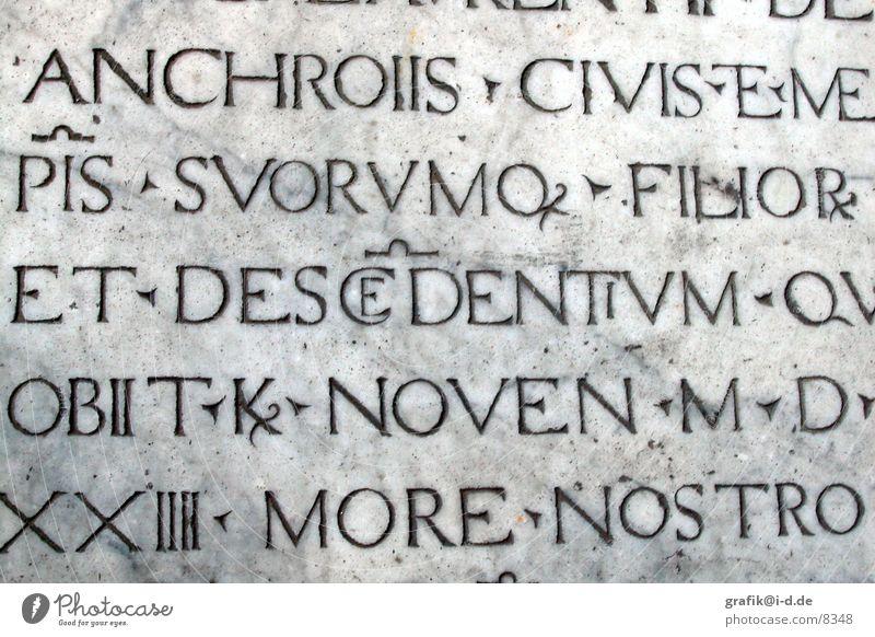 Ligaturen in Pisa Stein Schriftzeichen Italien Buchstaben Aufschrift Fototechnik PISA-Studie Großbuchstabe Latein