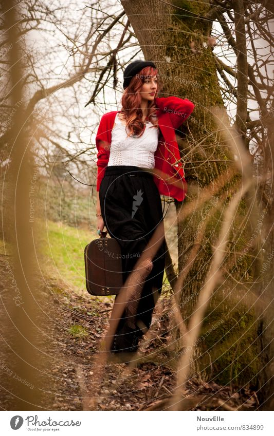 This is all that I see. Lifestyle elegant Stil schön feminin Junge Frau Jugendliche Erwachsene 1 Mensch 18-30 Jahre Mode Bekleidung Arbeitsbekleidung Rock Kleid