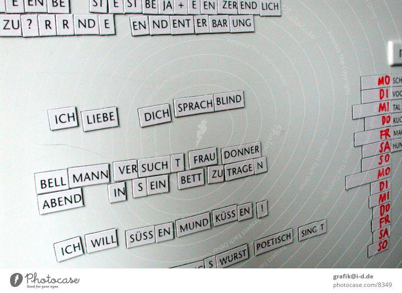 sprachblind Dinge Wort Kühlschrank Magnet Gedicht