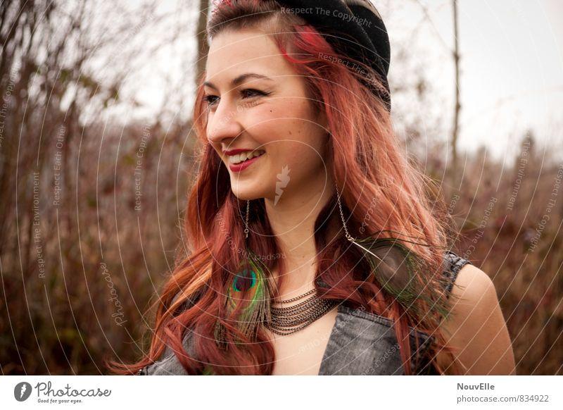 Mh yeah. Mensch Frau Kind Jugendliche Stadt 18-30 Jahre Junger Mann Erwachsene feminin natürlich Haare & Frisuren Glück außergewöhnlich Mode wild modern