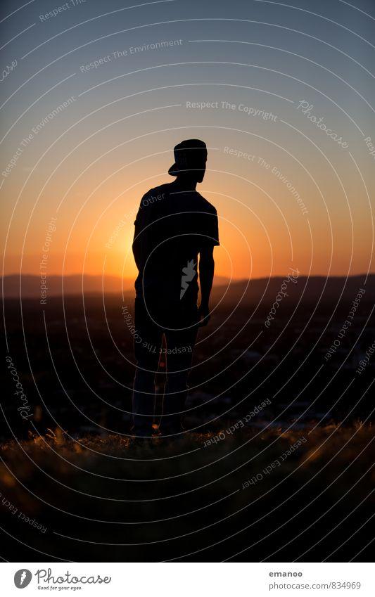 cool hill dude Lifestyle Stil Freude Erholung Ferien & Urlaub & Reisen Ferne Freiheit Berge u. Gebirge Mensch maskulin Junger Mann Jugendliche Körper 1 Natur