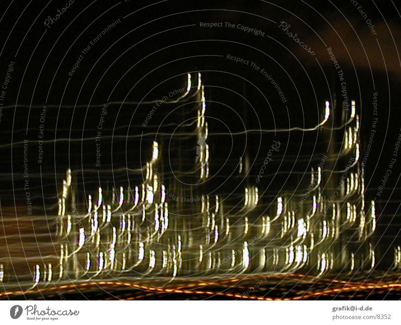 leuna 03 Leuna Nacht Licht Muster Langzeitbelichtung Haus Lichtspiel Industriefotografie