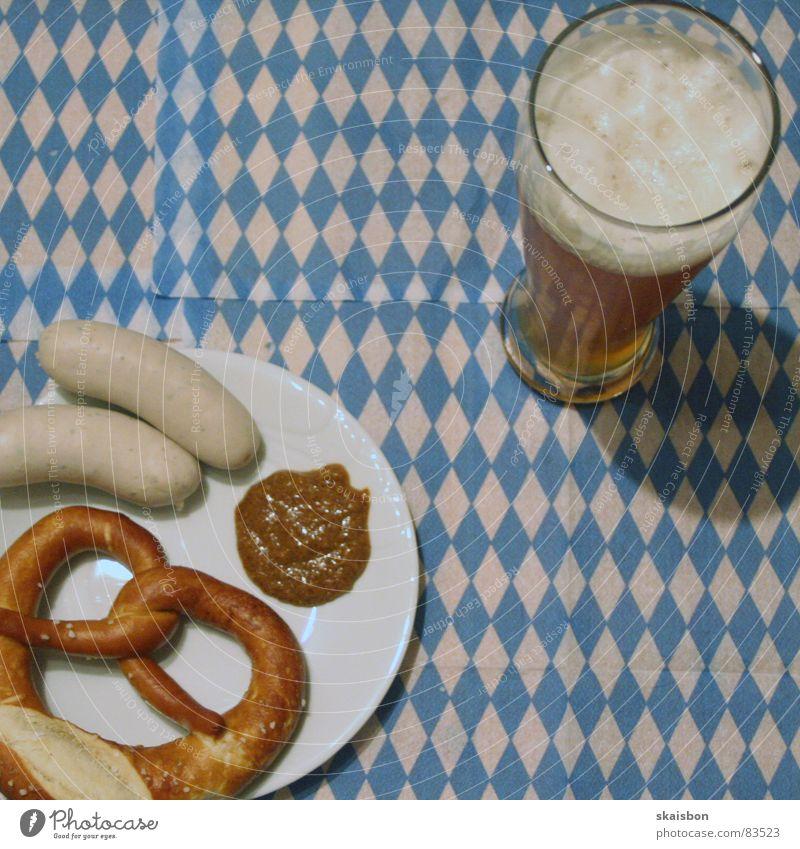viel spaß beim auszutzeln blau weiß kalt Wärme Deutschland Glas Ernährung Lebensmittel frisch süß München Physik Bier Muster Quadrat Frühstück