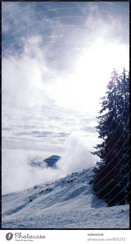 endless winter Ferien & Urlaub & Reisen Erholung Wolken Ferne Winter Berge u. Gebirge kalt Umwelt Schnee Sport Freiheit Tourismus wandern Ausflug Abenteuer