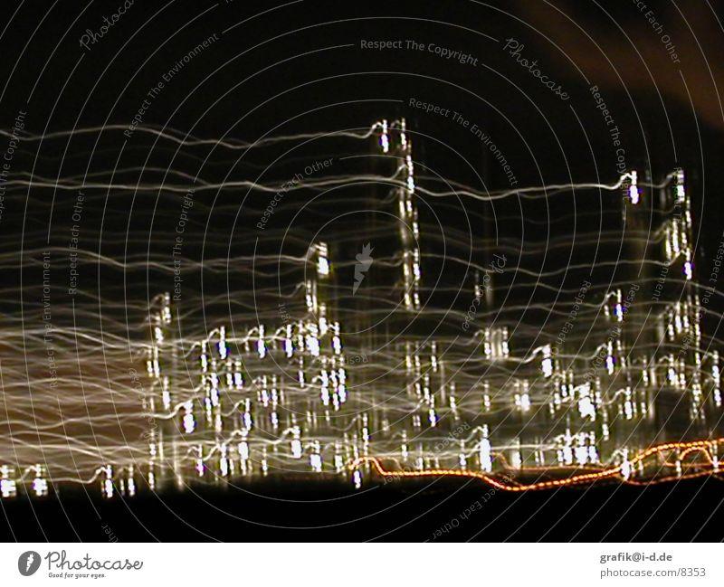 leuna 02 Leuna Nacht Licht Muster Langzeitbelichtung Haus Lichtspiel Industriefotografie