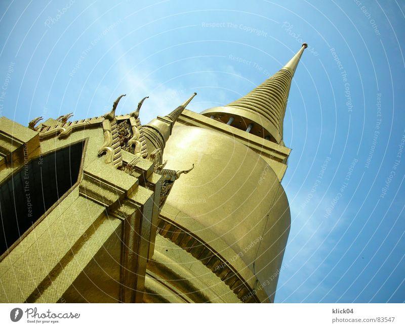 Phra Siratana Chedi Ferien & Urlaub & Reisen Wolken Architektur Religion & Glaube Gebäude gold Tourismus Turm Macht Dekoration & Verzierung Kultur Spitze Asien