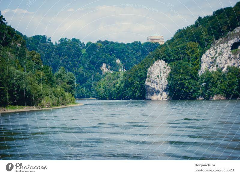 Ruhiges Fahrwasser Ferien & Urlaub & Reisen blau Wasser Sommer Baum Erholung ruhig Landschaft Freude Stein Deutschland Sträucher genießen beobachten fantastisch