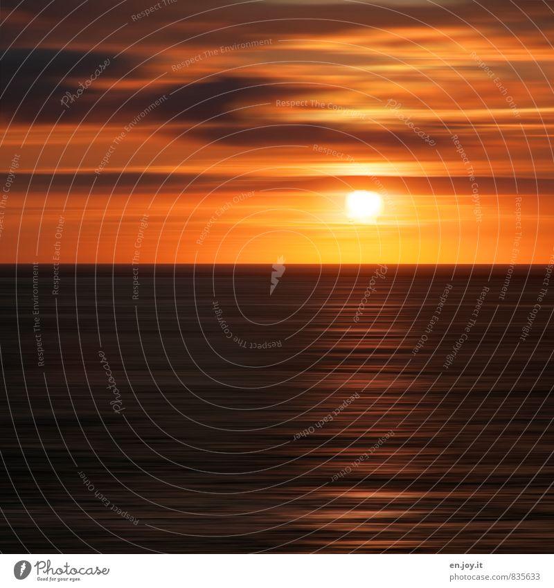 jeden Tag anders Ferien & Urlaub & Reisen Wasser Sommer Sonne Meer Erholung ruhig Wolken Ferne schwarz Wärme Traurigkeit Stimmung Horizont träumen Wetter