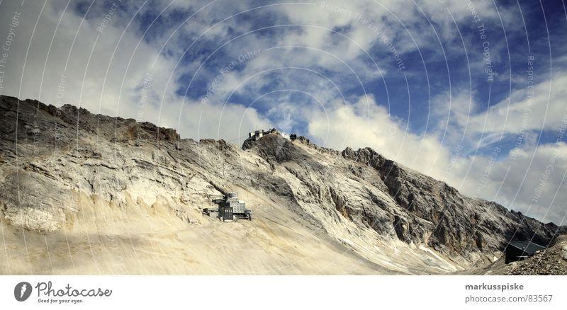 zugspitze gap Himmel Berge u. Gebirge Stein Deutschland Felsen hoch Klima Alpen Wissenschaften Gletscher Formation massiv Granit alpin Erosion Hochebene