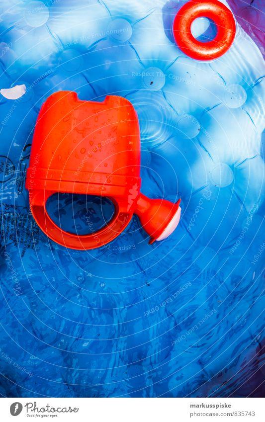 swimming pool Kind Ferien & Urlaub & Reisen Sommer Mädchen Freude Bewegung Junge Spielen Schwimmen & Baden Glück Garten springen Freizeit & Hobby Lifestyle Tourismus Kreis