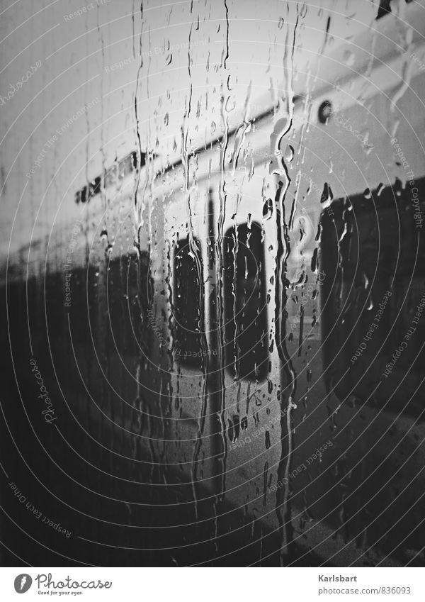 Immer wenn es regnet ... Ferien & Urlaub & Reisen Fenster Traurigkeit Bewegung Wege & Pfade Regen Verkehr Tourismus Wassertropfen Ausflug Beginn Eisenbahn