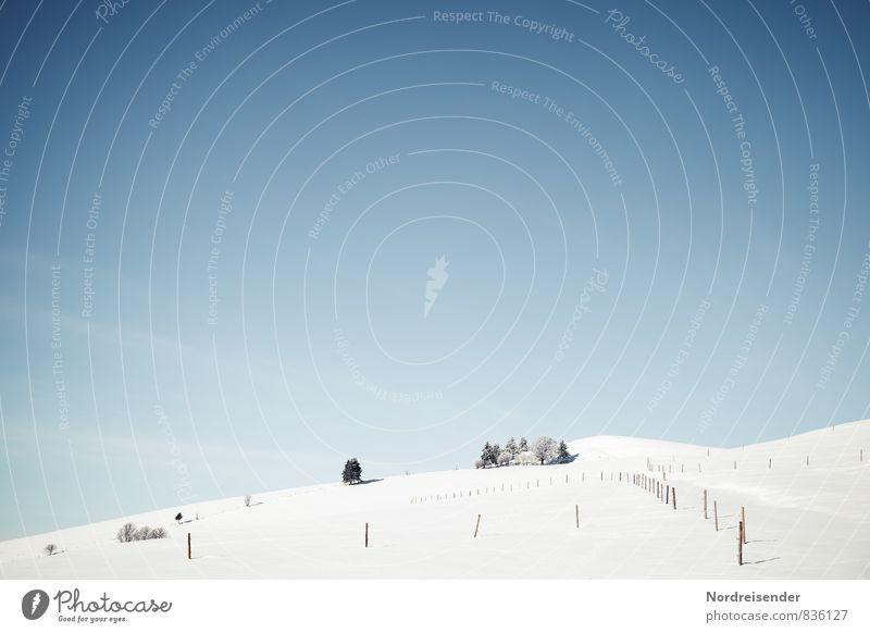Temperatursturz.... Himmel Natur Ferien & Urlaub & Reisen blau weiß Landschaft Winter kalt Berge u. Gebirge Schnee Wege & Pfade Tourismus Klima wandern