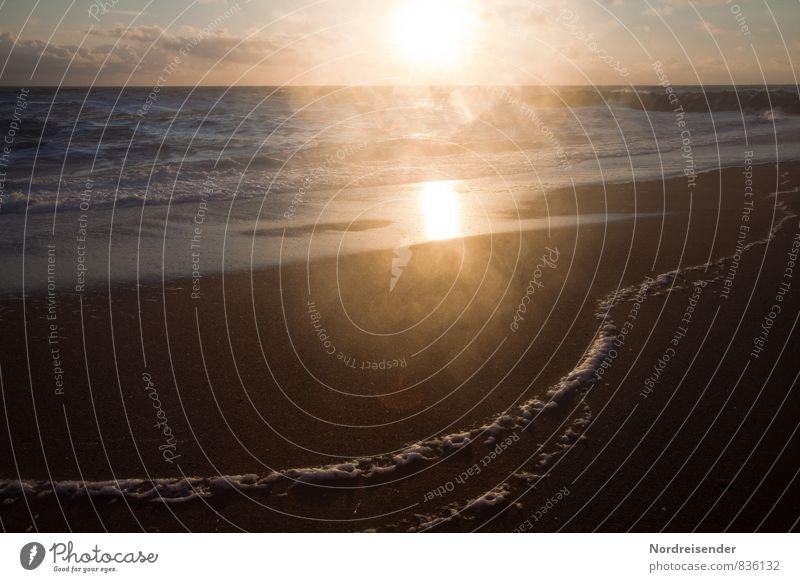 Salz auf der Linse Natur Ferien & Urlaub & Reisen Wasser Sommer Sonne Meer Erholung Einsamkeit Landschaft Strand Ferne Wärme Küste Freiheit Stimmung Luft