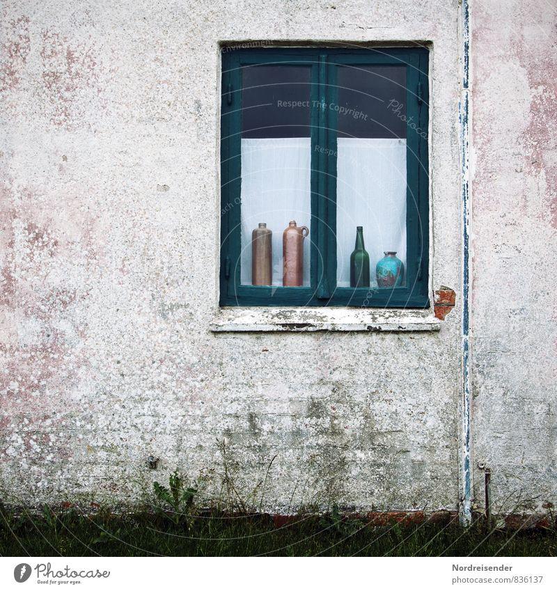 Dänemark alt Stadt Einsamkeit ruhig Haus Fenster Wand Architektur Mauer Stimmung Lifestyle Häusliches Leben Dekoration & Verzierung Kitsch Dorf Backstein