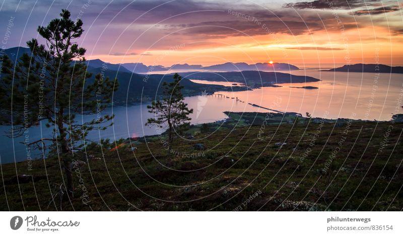 Auf zum Atem Ferien & Urlaub & Reisen Sommer Baum Erholung Meer Landschaft Wolken Ferne Berge u. Gebirge Umwelt Küste Tourismus Insel Brücke Abenteuer sportlich