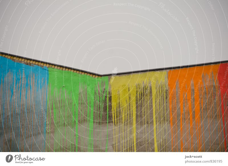 verlaufen & verstreichen Himmel Farbe Freude Farbstoff Stil grau Zeit Linie Kunst oben frisch Erfolg Kreativität einzigartig lang Sammlung