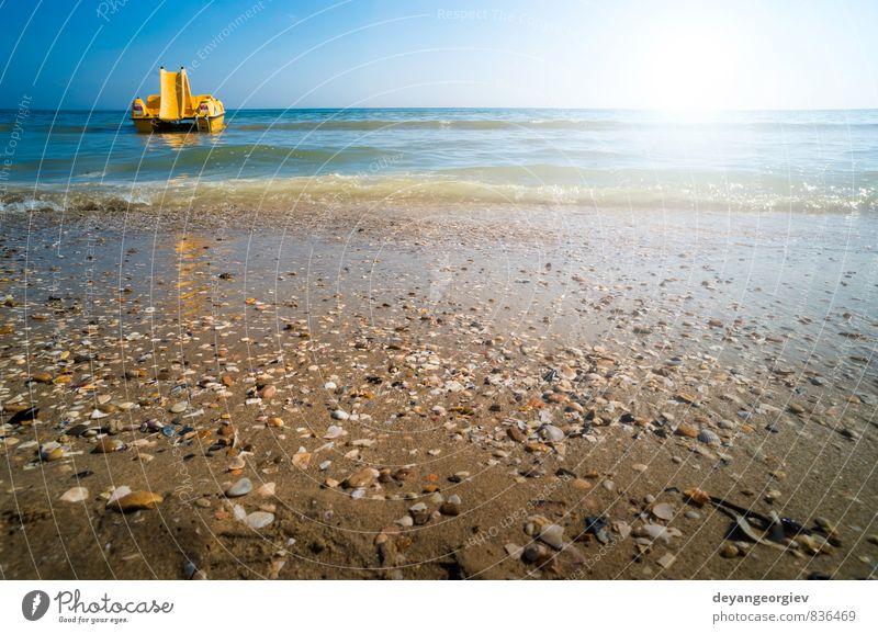 Himmel Natur Ferien & Urlaub & Reisen blau schön weiß Sommer Sonne Meer Erholung Landschaft Strand Leben Küste Sand Wasserfahrzeug