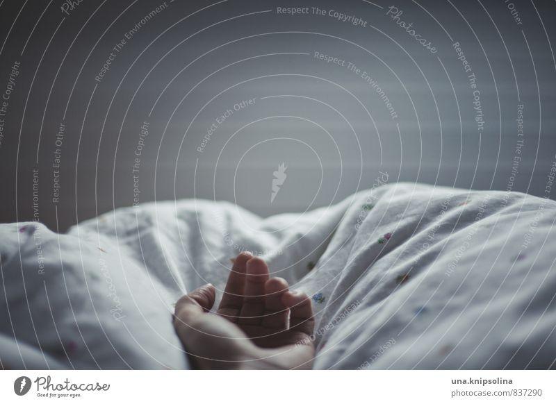 guten abend, gute nacht. Mensch Frau Jugendliche Hand ruhig 18-30 Jahre Erwachsene Gefühle liegen Häusliches Leben Sex weich schlafen Bett Müdigkeit