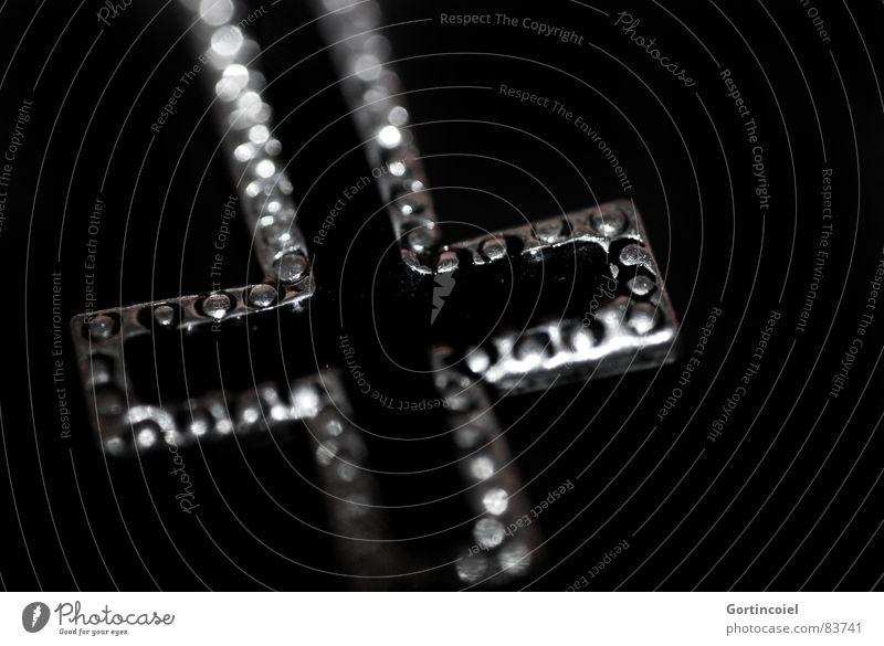 La Croix Noir dunkel Religion & Glaube Metall Zeichen Schmuck Kreuz Symbole & Metaphern Kruzifix Christentum Teufel Accessoire Moral Christliches Kreuz
