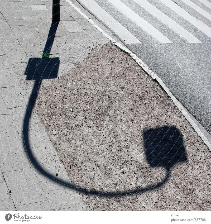 Knicklicht Verkehr Verkehrswege Personenverkehr Straßenverkehr Fußgänger Wege & Pfade Fußgängerübergang Zebrastreifen Bodenplatten Schotterweg