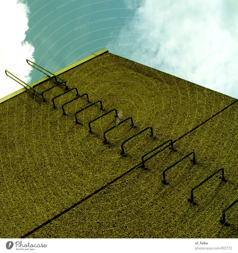 SORRY MADO Himmel grün Haus Wand Architektur Beton verrückt Treppe Leiter