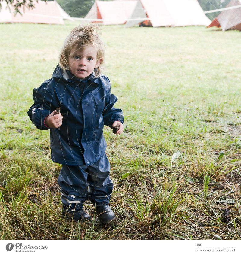 schlechtes Wetter? - bah! Lifestyle Zufriedenheit Spielen Ferien & Urlaub & Reisen Camping Sommer Sommerurlaub Kindererziehung feminin Kleinkind Mädchen 1