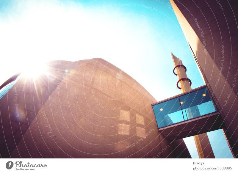 DITIB Zentralmoschee Köln Architektur Religion & Glaube Deutschland leuchten modern ästhetisch Europa Schönes Wetter Macht Sehenswürdigkeit innovativ Integration Islam Moschee Minarett Köln-Ehrenfeld
