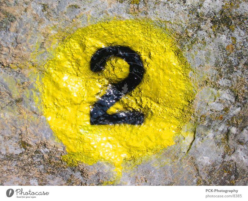 zwei Ziffern & Zahlen 2 Freizeit & Hobby Stein steinbemahlung wandbemahlung
