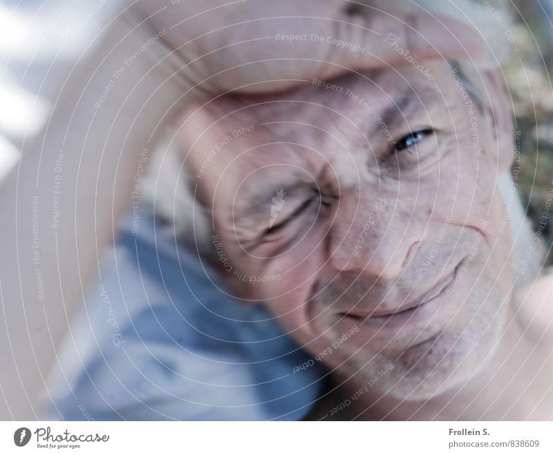 My Guy Glück Wohlgefühl Zufriedenheit Erholung Sommer Sommerurlaub Mann Erwachsene Gesicht 1 Mensch 45-60 Jahre Lächeln Blick frech Freundlichkeit Fröhlichkeit