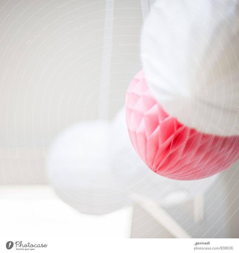 Weich schön weiß ruhig hell rosa Dekoration & Verzierung weich Freundlichkeit zart Kugel