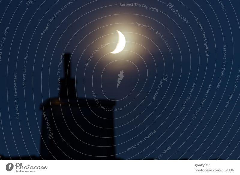 MOND Natur Landschaft Nachthimmel Mond Sommer positiv Romantik Farbfoto Außenaufnahme Lichterscheinung Panorama (Aussicht)