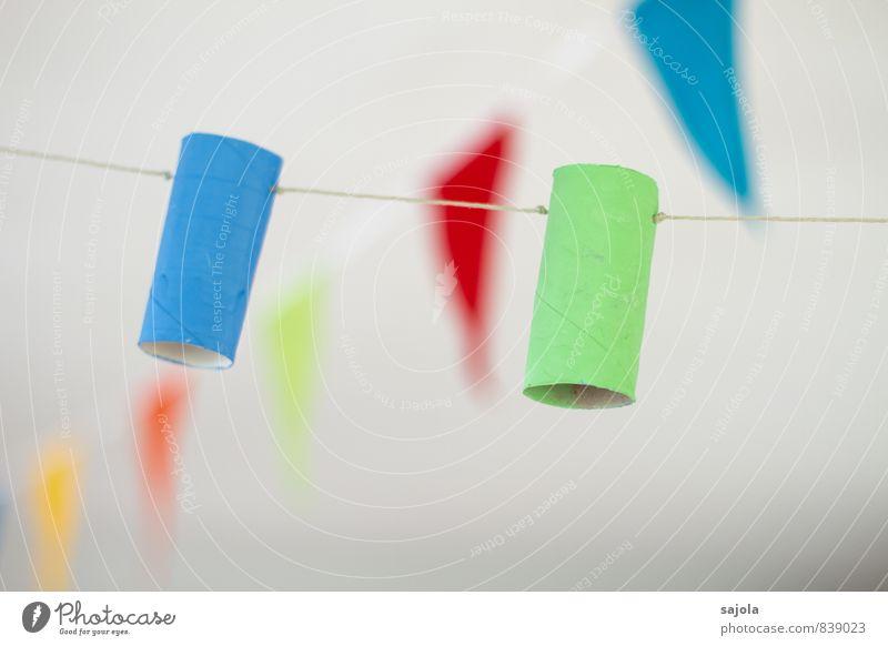 dekoration blau grün Freude Feste & Feiern Party Wohnung Häusliches Leben Dekoration & Verzierung Geburtstag Fahne Silvester u. Neujahr Karneval hängen selbstgemacht angemalt aufgereiht