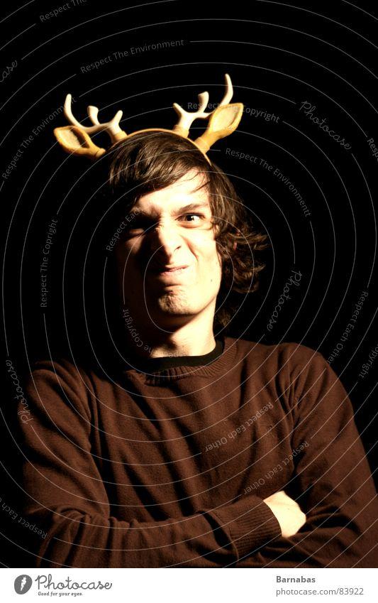 Pussey Elch Kerl Gesicht Grimasse Kopf Mund Karneval Schnauze Mann Benni karnewal Low Key guy alt Arschloch Maul armleuchter