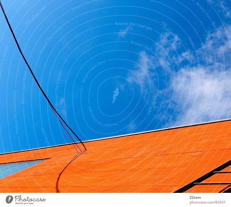abstrakte geometrie I Geometrie graphisch Schnur verbinden Fenster Perspektive modern lininien Grafik u. Illustration Farbe orange Leiter Seil Kabel Verbindung