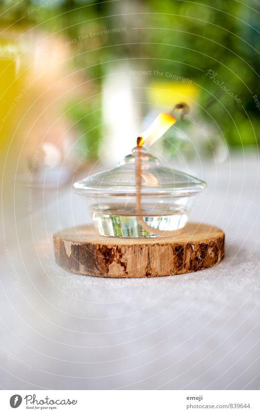 Öllampe Dekoration & Verzierung Kitsch Krimskrams Kerze Kerzendocht Kerzenflamme natürlich gelb Gartenfest Farbfoto Außenaufnahme Nahaufnahme Menschenleer Tag