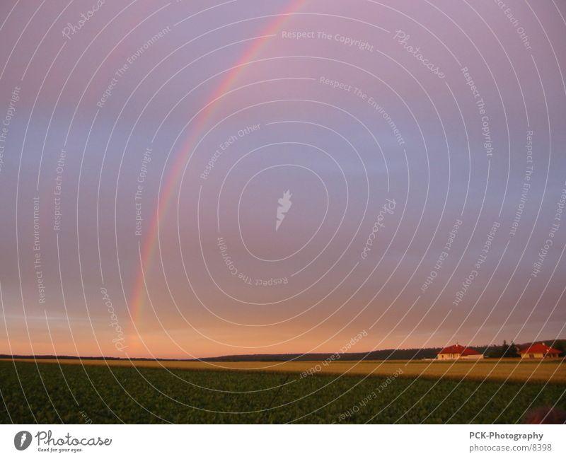 rainbow Regenbogen Ebene Abenddämmerung Ambiente Stimmung