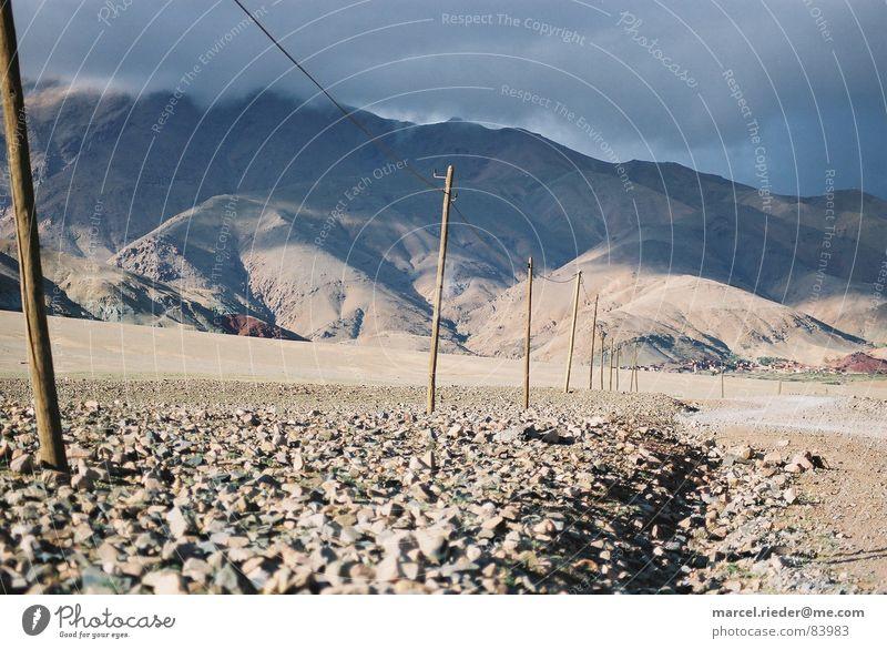 Steinwüste Berge u. Gebirge Stein wandern Wüste Afrika Steppe Mineralien Marokko Atlas Steinwüste