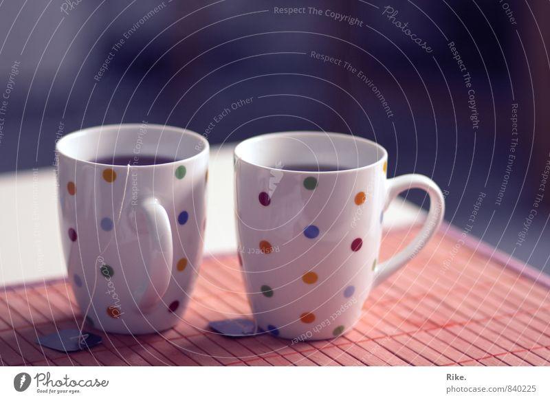 Gemeinsame Auszeit. Kaffeetrinken Getränk Heißgetränk Tee Tasse Lifestyle Gesundheit Gesunde Ernährung Krankheit Wellness harmonisch Wohlgefühl Häusliches Leben