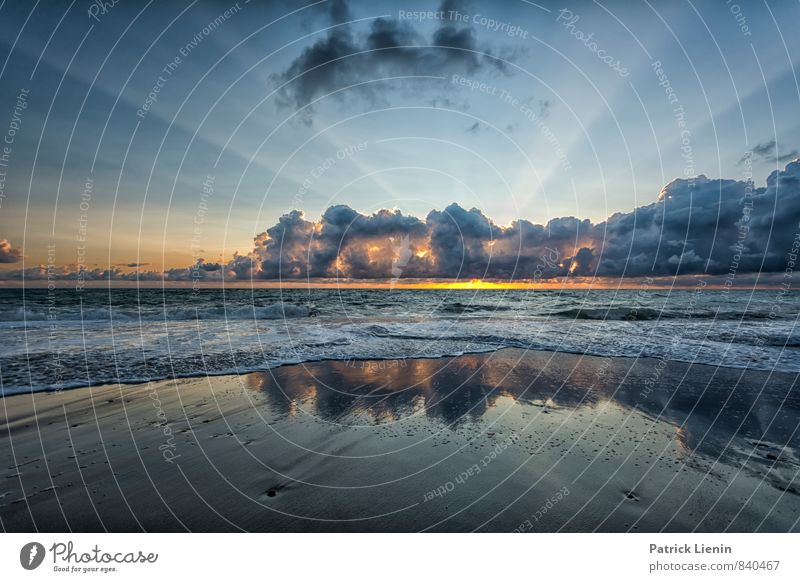 Mehr Ruhe Himmel Natur Ferien & Urlaub & Reisen Sommer Sonne Meer Landschaft Wolken Strand Ferne Umwelt Küste Freiheit Wetter Erde Wellen