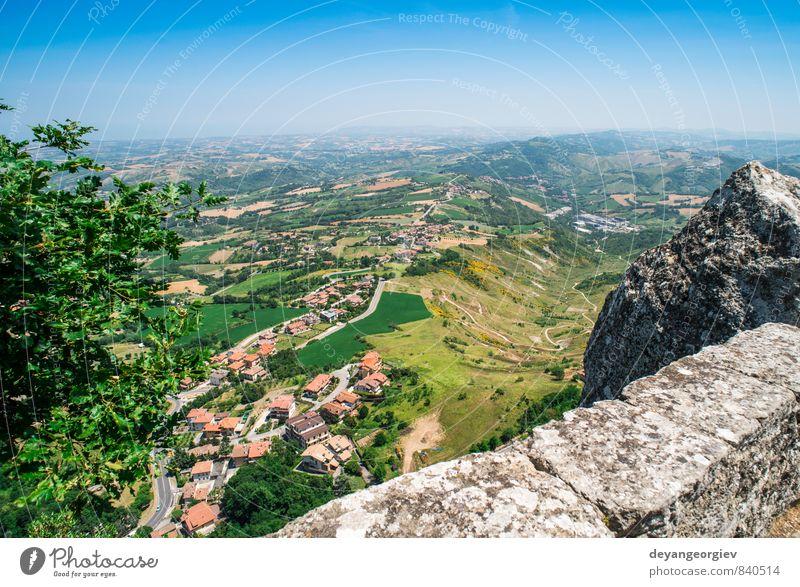 Natur Ferien & Urlaub & Reisen Stadt grün Baum Landschaft Haus Berge u. Gebirge Architektur Gebäude modern Europa Aussicht Hügel Italien Fliesen u. Kacheln