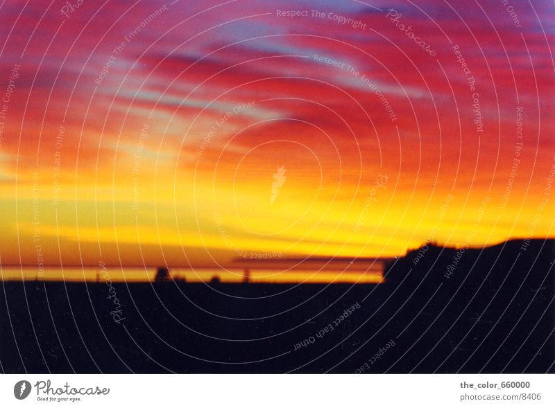 beautiful sunset Farbe Abenddämmerung